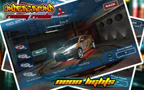 Underground Racing Rivals для андроид