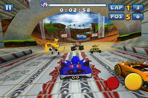 Sonic & SEGA All-Stars Racing  на андроид