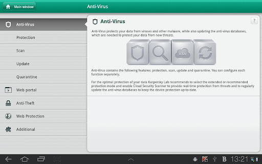Kaspersky Tablet Security android