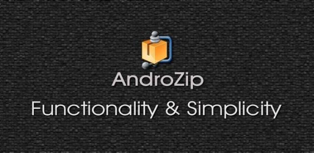 Androzip pro file android