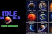 Idle World мод много денег
