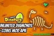 Crazy Dino Park мод много денег и алмазов